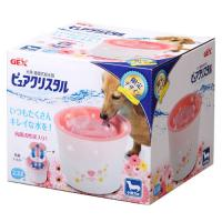 GEX ピュアクリスタル 小型犬用 2.3L ガーリーピンク