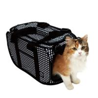 猫壱 ポータブル キャリー 黒 折りたたみ 猫 猫用キャリー(6kgまで)