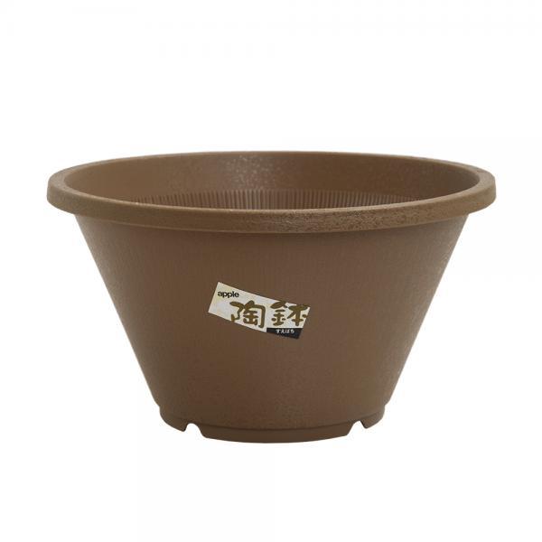 陶鉢(すえはち) 寄型 300 きん茶(φ30×H16.5cm・5L)