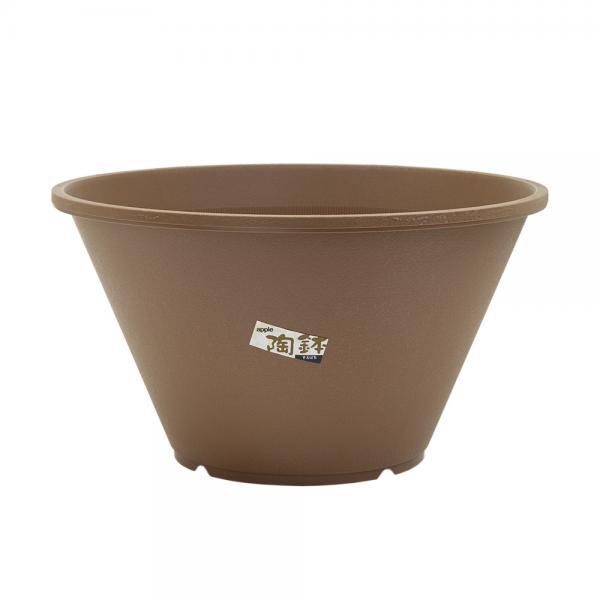 陶鉢(すえはち)寄型 440 きん茶(φ44×H24.5cm・18L)お一人様1点限り