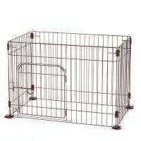 リッチェル カスタムペットサークル4面90-60入口付 ブラウン サークル 小型犬