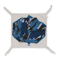 レインボー 迷彩もぐりっこハンモック ブルー フェレット用 ハンモック