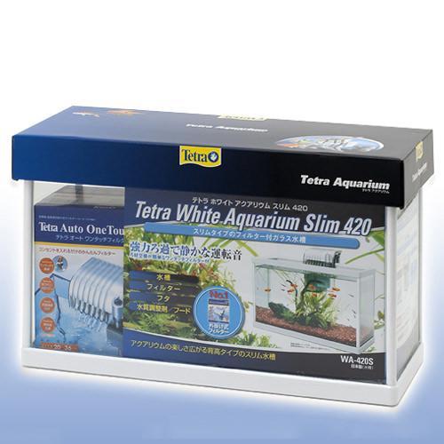テトラ ホワイトアクアリウム スリム 420 42cm水槽セット 初心者 お一人様1点限り