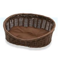 ペットプロ 手編みカラーベッド 水洗いOK S ブラウン 犬 猫 ベッド 水洗いOK お一人様6点限り