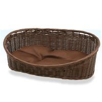 ペットプロ 手編みカラーベッド 水洗いOK L ブラウン 犬 猫 ベッド 水洗いOK お一人様2点限り