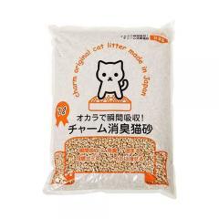 国産猫砂 おからで瞬間吸収 チャーム消臭猫砂 6L 4袋入り おからの猫砂 固まる 流せる 燃やせる お一人様1点限り