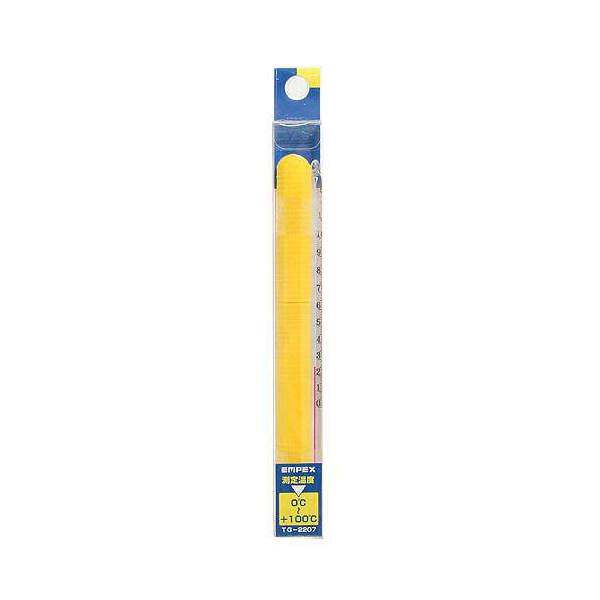 ゆうパケット対応 エンペックス 棒状温度計 15cm 0~100度 同梱・代引き・着日指定不可