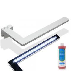 正規品 2個セット 小型水槽用LEDライト FLEXImini シルバー  添加剤セット 沖縄別途送料