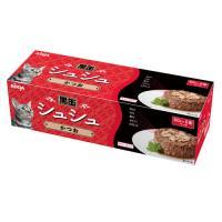 アイシア 黒缶シュシュ6P かつお 60g×6缶パック キャットフードの画像