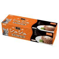 アイシア 黒缶シュシュ6P ササミ入かつお 60g×6缶パック キャットフードの画像