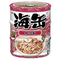 アイシア 海缶ミニ3P かつお 60g×3缶パック 1箱24個