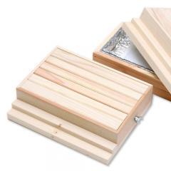 階段付ぽかぽかウッドデッキセット(カイロ付) Sサイズ (W25.5×D20.5×H6.5cm)