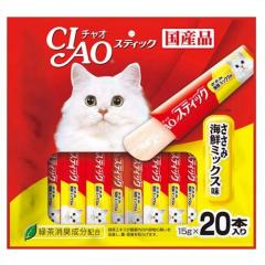 いなば CIAO(チャオ) スティックささみ 海鮮ミックス味 15g×20本