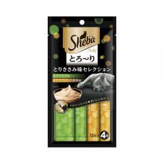 シーバ とろ~り メルティ とりささみ味セレクション 12g×4P 2袋入り
