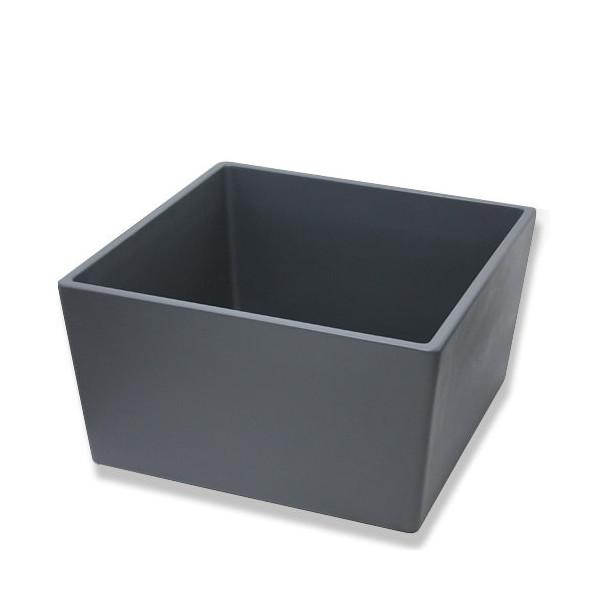 (大型)睡蓮鉢(メダカ鉢)凛 RIN 角型 グレー L(80×80×H44cm)単体 別途大型手数料・同梱不可・代引不可