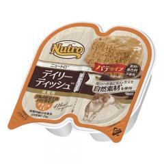ニュートロ キャット デイリー ディッシュ 成猫用 チキン&エビ グルメ仕立てのパテタイプ トレイ 75g 8個入り