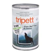 賞味期限:2018年03月21日 PetKind Tripett グリーンビーフトライプ&ベニソン(鹿肉) 396g 正規品 穀物不使用 グレインフリー