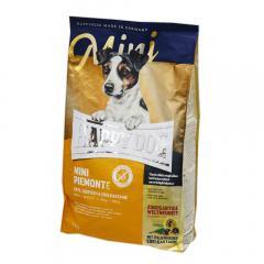 HAPPY DOG ミニピエモンテ 栗、ダッグ&シーフィッシュ 1kg 正規品 小型犬 成犬~シニア犬