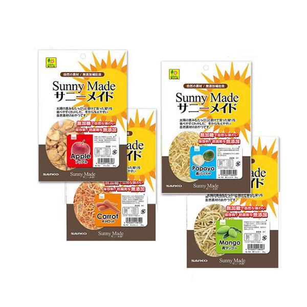 アソート 三晃商会 SANKO サニーメイド アップル 青マンゴー キャトッロ 青パパイヤ の4種×各1袋  計4袋