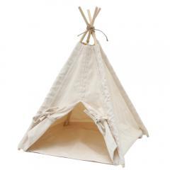 天然素材の布テント ティピー 猫・超小型犬用 ハンドメイド