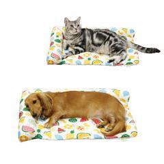 ドギーマン サララfeel L字型枕付きマット フルーツフルーツ