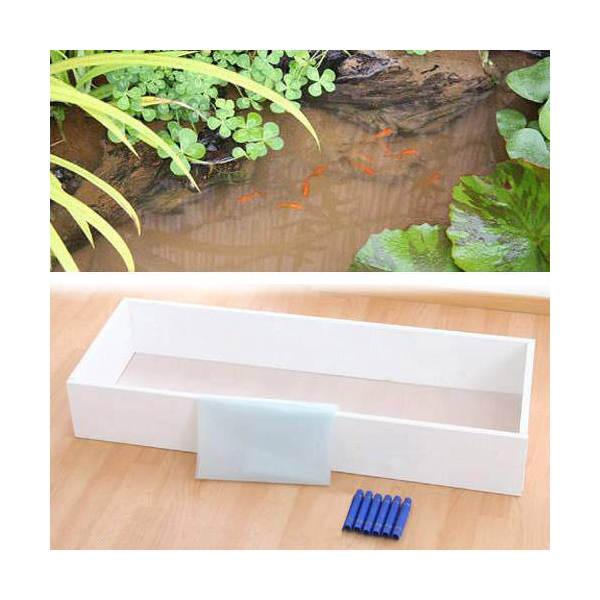 お手軽ビオトープ 池製作キット(W120×D45×H18.5cm) ホワイト 沖縄別途送料