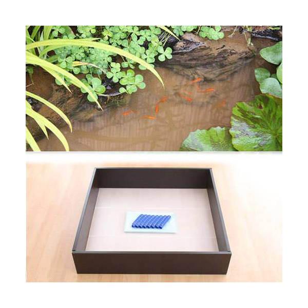 お手軽ビオトープ 池製作キット(W90×D90×H18.5cm) ブラウン 沖縄別途送料