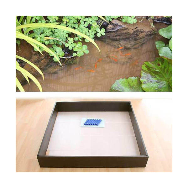 お手軽ビオトープ 池製作キット(W120×D120×H18.5cm) ブラウン 沖縄別途送料