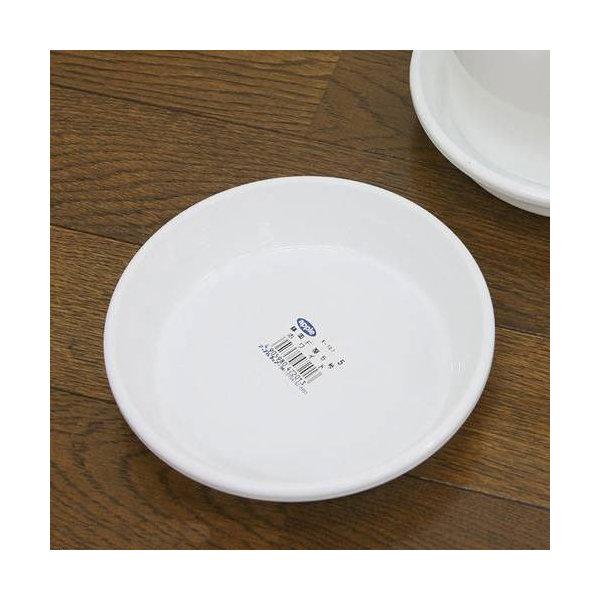 鉢皿 F型 5号(ホワイト)