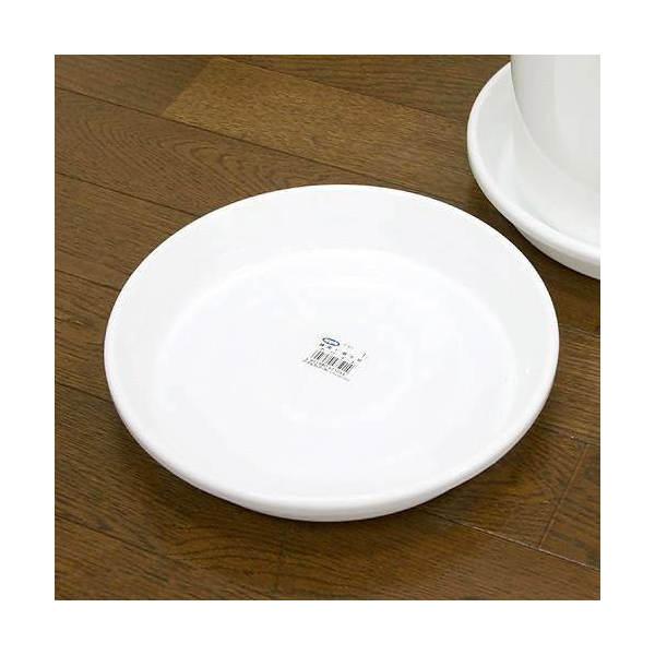 鉢皿 F型 8号(ホワイト)