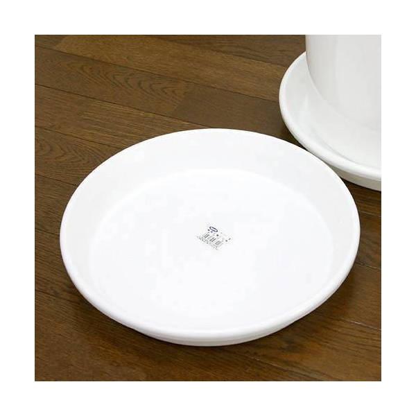 鉢皿 F型 10号(ホワイト)