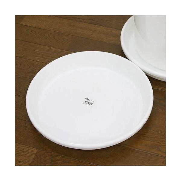 鉢皿 F型 12号(ホワイト)