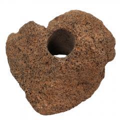 形状お任せ 穴あき溶岩石 1個