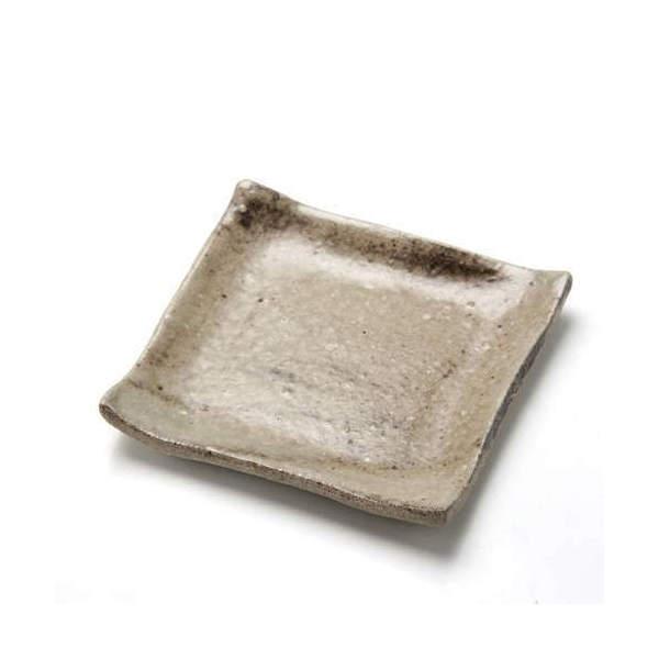 苔受皿 浅小 信楽 四角 ミニミニ盆栽鉢