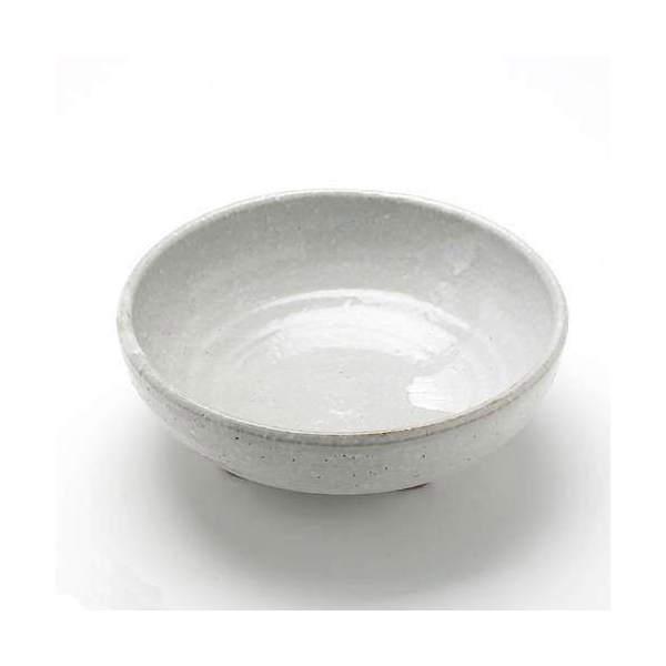 益子焼 足付丸鉢 白マット