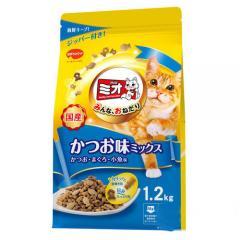 ミオ ドライミックス かつお・まぐろ・小魚味・ミックス 1.2kg キャットフード ミオ