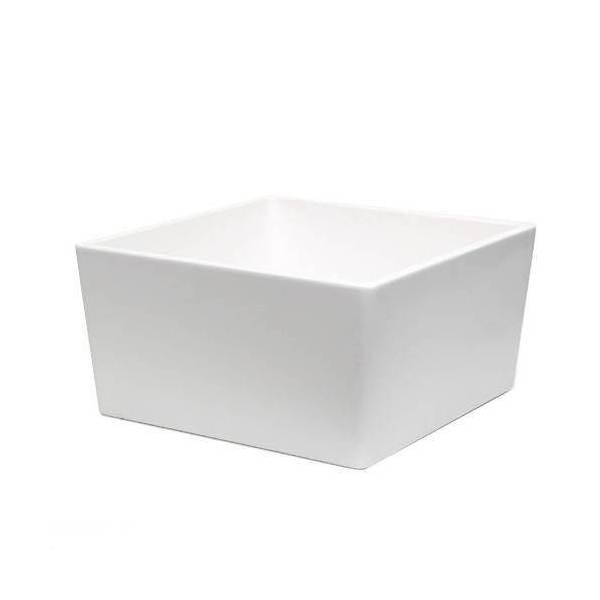 同梱不可・中型便手数料 睡蓮鉢(メダカ鉢)凛 RIN 角型 白 L(80×80×H44cm)単体 才数200