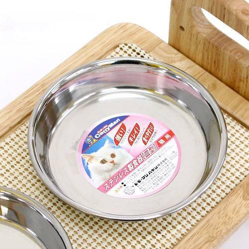 キャティーマン ステンレス製食器 猫用皿型 ドギーマン