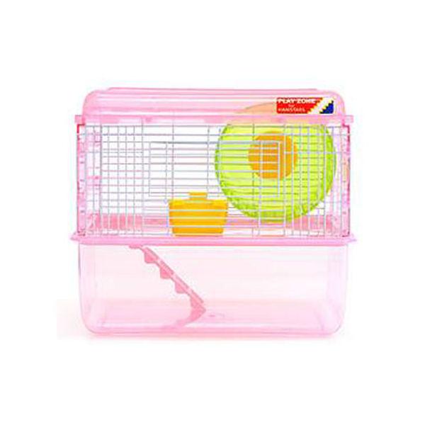 ミニアニマン 快適空間 プレイゾーン ピンク(36×24×30cm) ハムスター ケージ ドギーマン