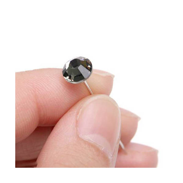 アウトレット品 クリスタルピン ブラックダイヤモンド 1本入 訳あり