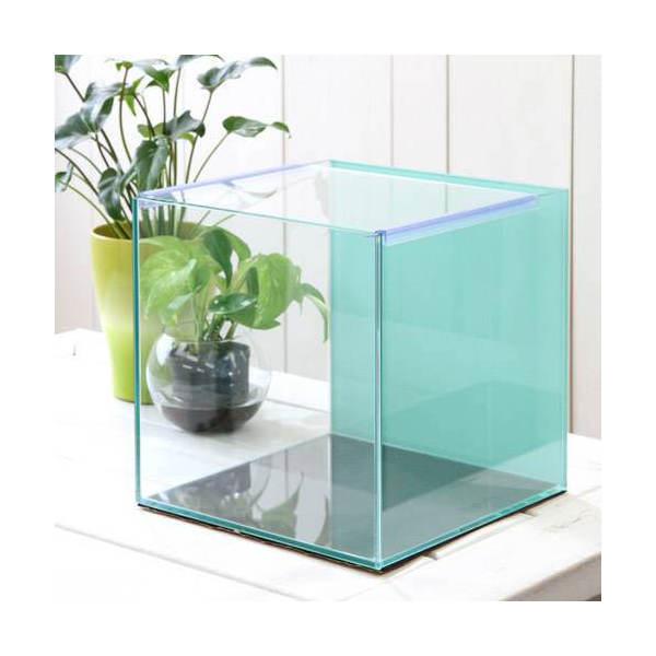 バックスクリーン貼付済 オールガラス27cm水槽 アクロ27N ミント(27×27×27cm)(単体) お一人様2点限り