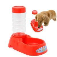 ペティオ ディッシュ 給水器付き レッド 犬 猫用 水飲み 自動給水器