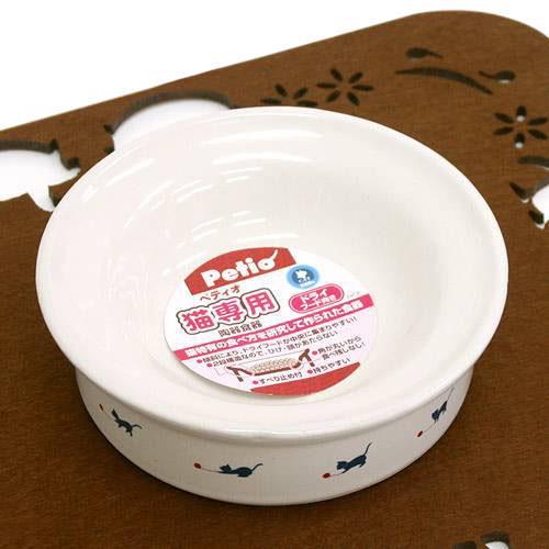 ペティオ 猫専用陶器食器 ドライフード向き 毛糸遊び