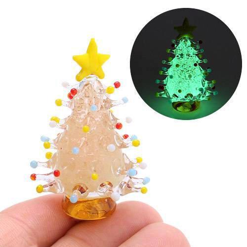 グラスコレクション 蓄光ドットツリー ピンク 1個 クリスマス
