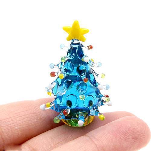 グラスコレクション ドットツリー ライトブルー 1個 クリスマス