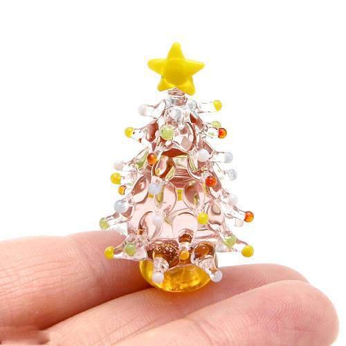 グラスコレクション ドットツリー ピンク 1個 クリスマス