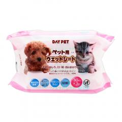 お得用 ペット用 ウェットシート 80枚×3P 犬 猫 小動物 ペット用ウェットティッシュ