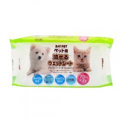 お得用 ペット用 流せるウエットシート 70枚×2個パック 犬 猫 小動物 ペット用ウェットティッシュ