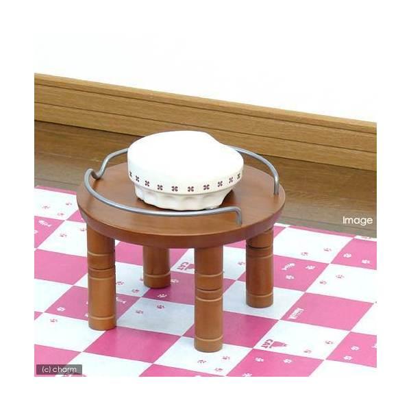 リッチェル ペット用 木製テーブル シングル ブラウン 犬用・猫用食器台 トレー