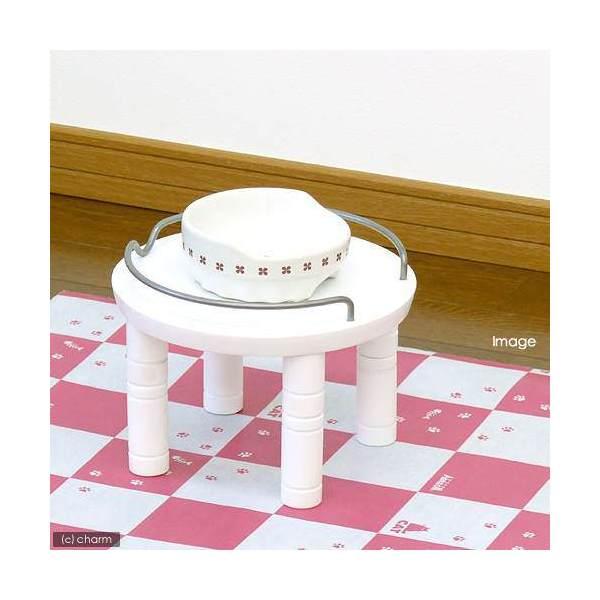 リッチェル ペット用 木製テーブル シングル ホワイト 犬用・猫用食器台 トレー